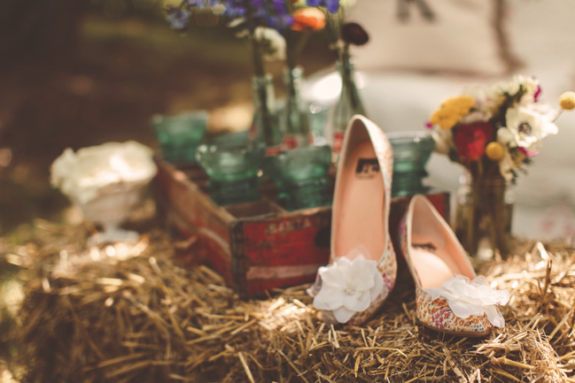 nessa k 38 floral shoes frederick md wedding Farm Wedding in Frederick MD: Katy and Parkers Backyard