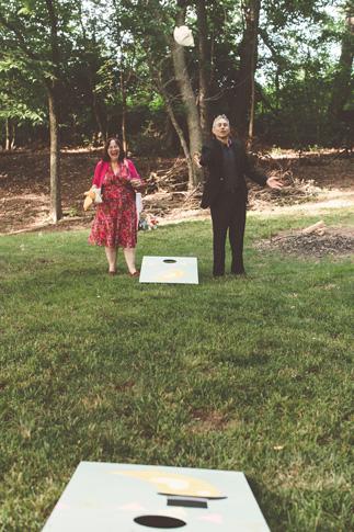 nessa k 45 cornhole wedding game maryland Farm Wedding in Frederick MD: Katy and Parkers Backyard