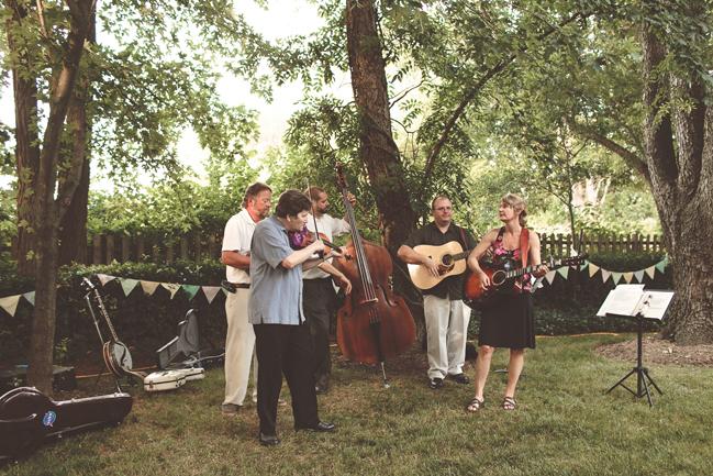 nessa k 48 bluegrass band backyard wedding reception maryland Farm Wedding in Frederick MD: Katy and Parkers Backyard
