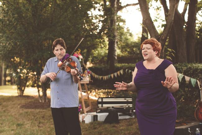 nessa k 49 bluegrass band farm wedding maryland Farm Wedding in Frederick MD: Katy and Parkers Backyard