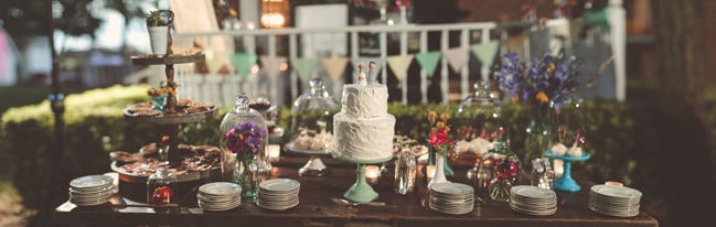 nessa k 55 brenizer method of dessert table Farm Wedding in Frederick MD: Katy and Parkers Backyard
