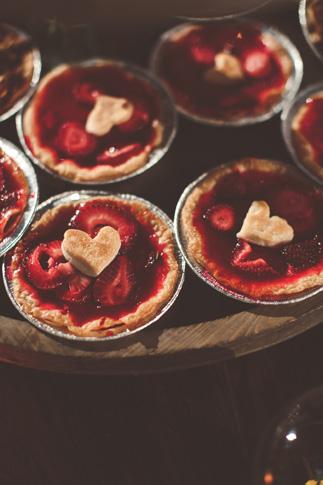 nessa k 57 strawberry heart tartes wedding desserts Farm Wedding in Frederick MD: Katy and Parkers Backyard