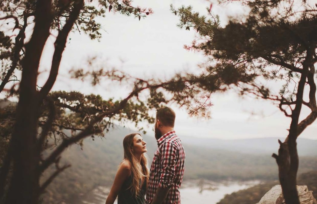 cliff engagement pictures