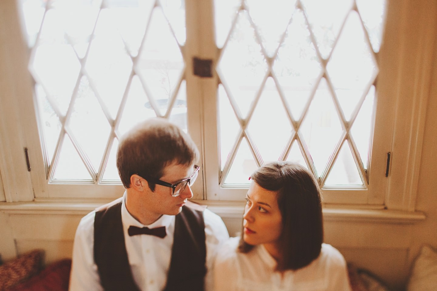 wes anderson inspired engagement pictures