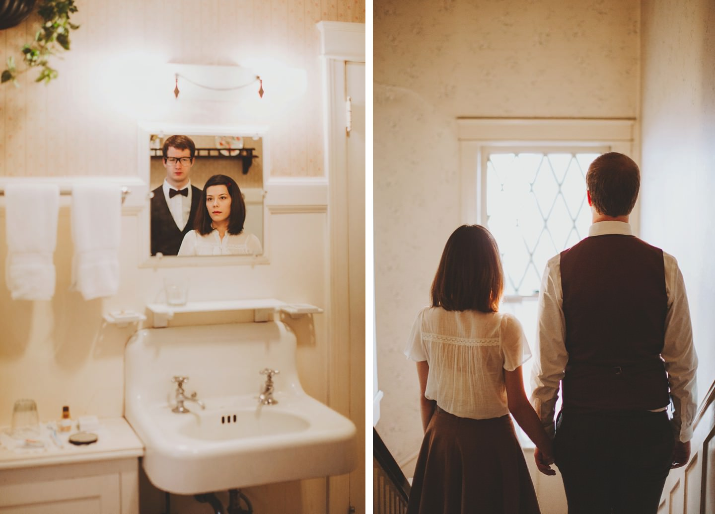 Wes anderson inspired engagement pictures nessa k for Bathroom photoshoots