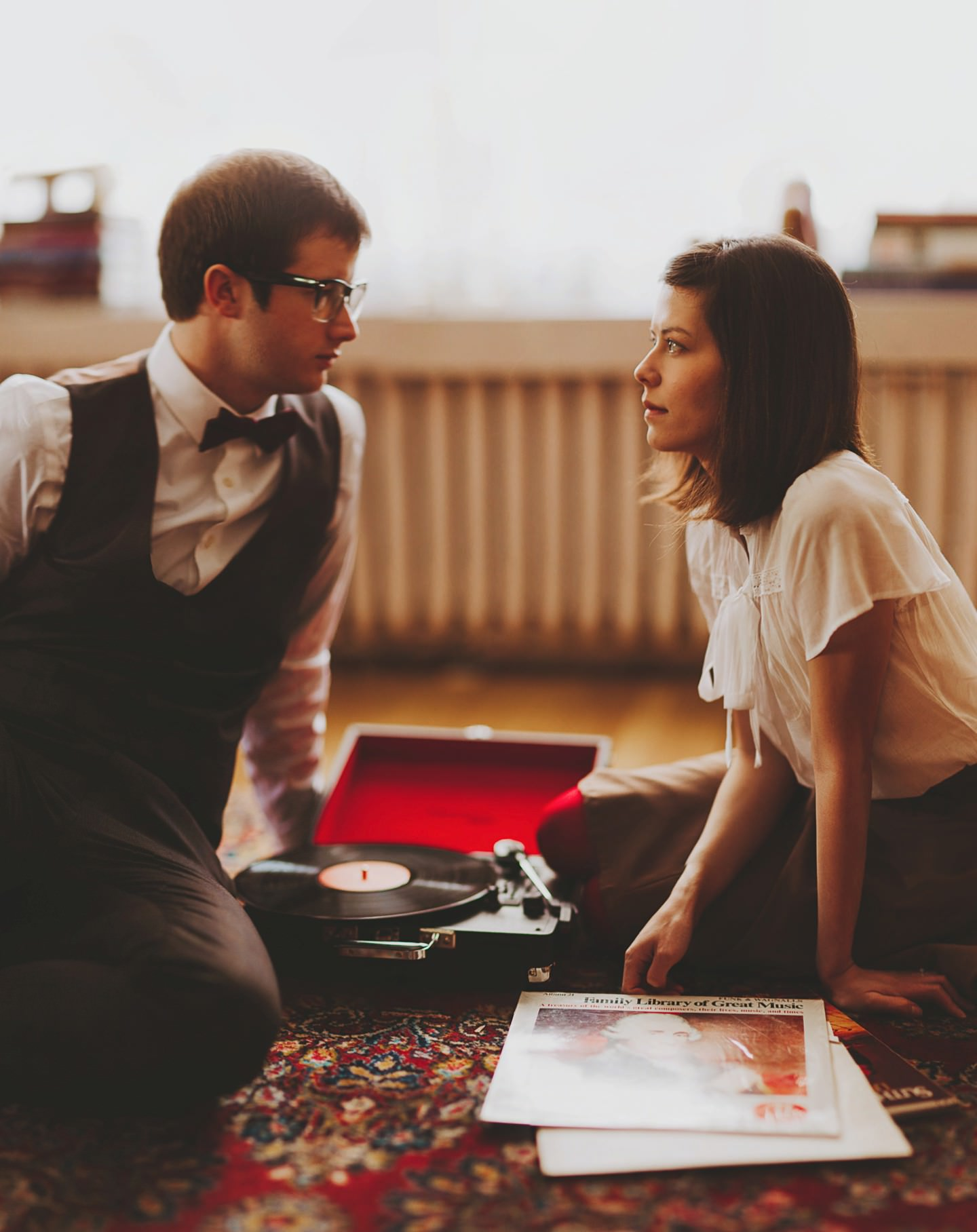 engagement pictures inspired by wes anderson