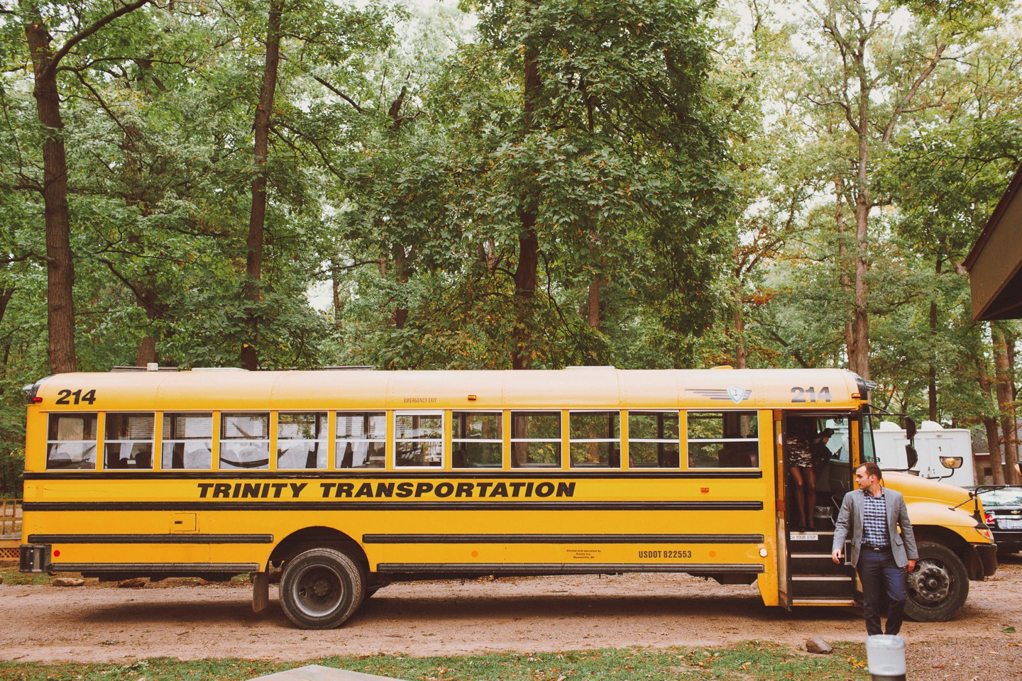 schoolbus school bus wedding guests transport shuttle