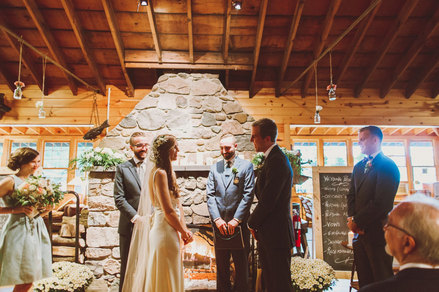 wedding in camp lodge
