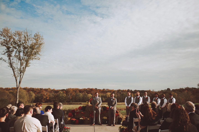 autumn wedding Riverside on the Potomac