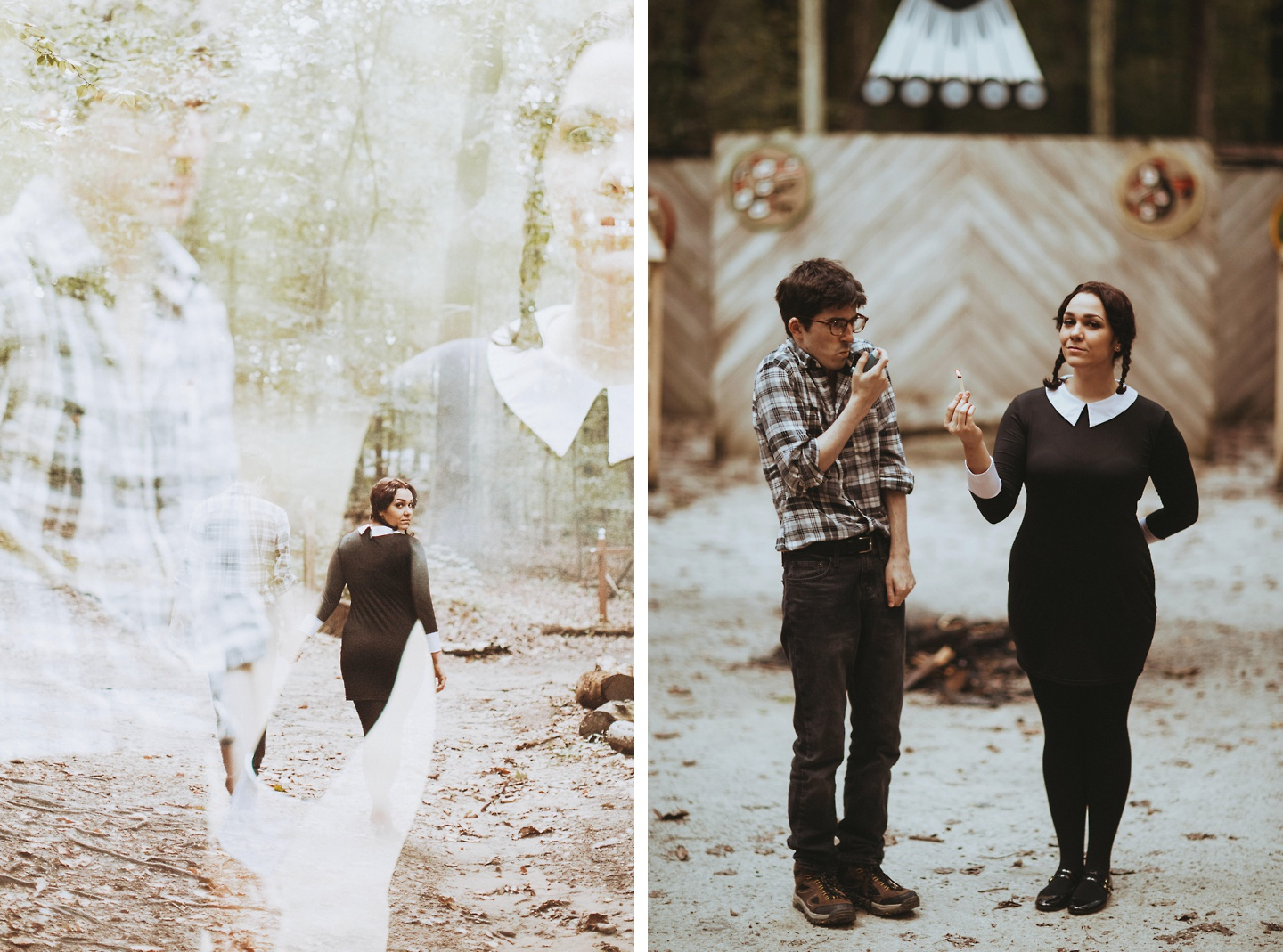 engagement photos addams family values