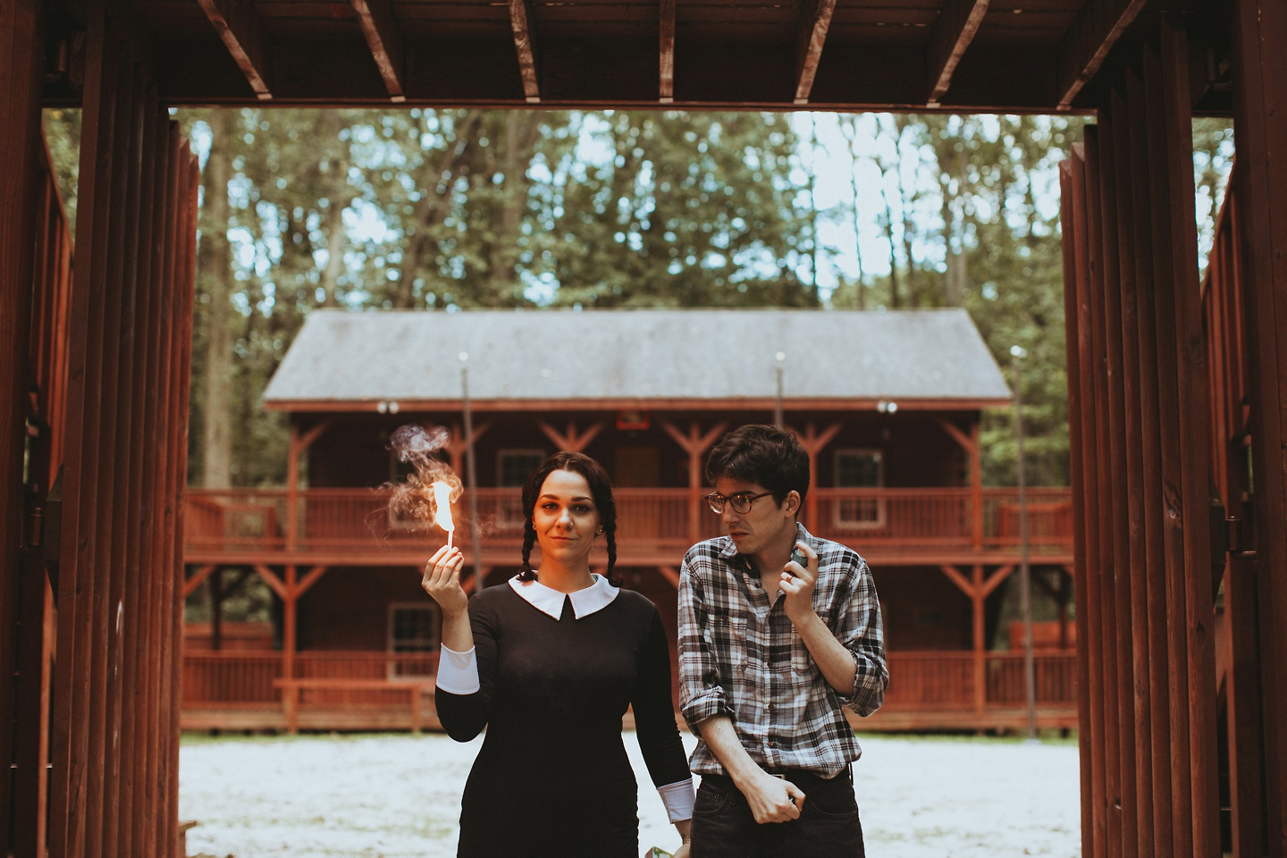 addams family values camp engagement pictures