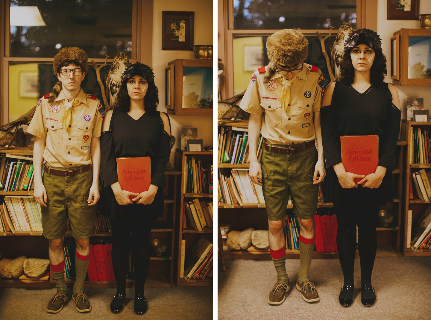 moonrise kingdom themed engagement pictures