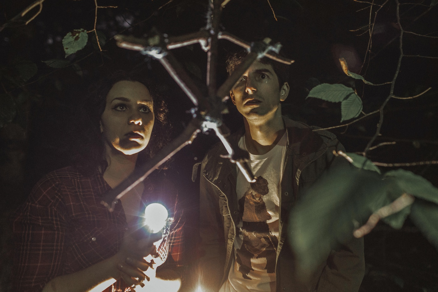 halloween engagement photos blair witch project