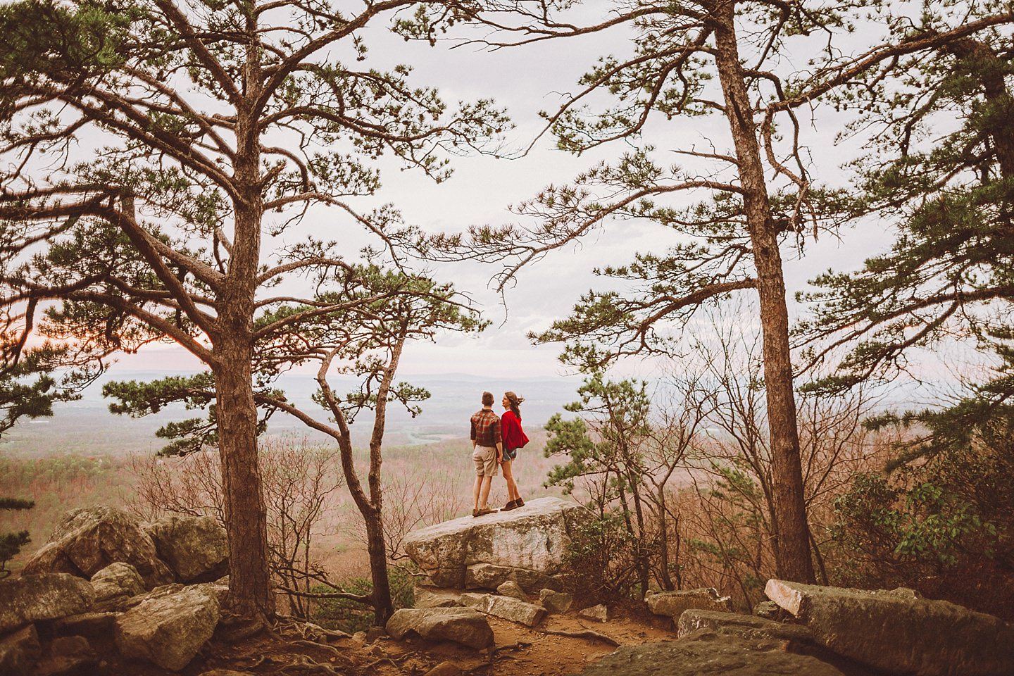 engagement session hiking sugarloaf mountain