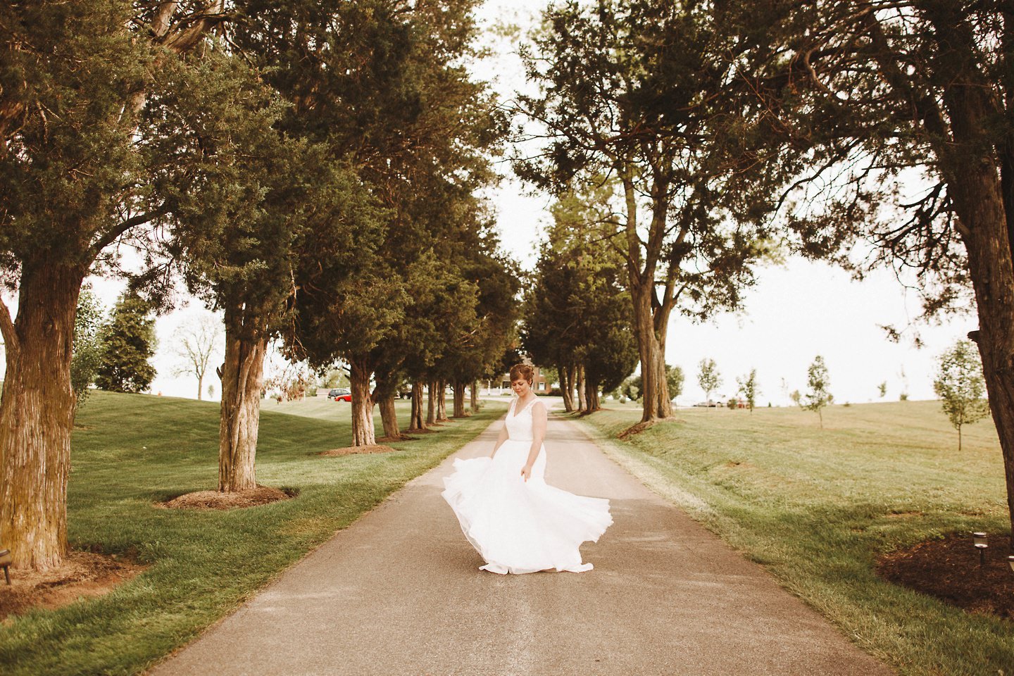 bride twirling in frederick md