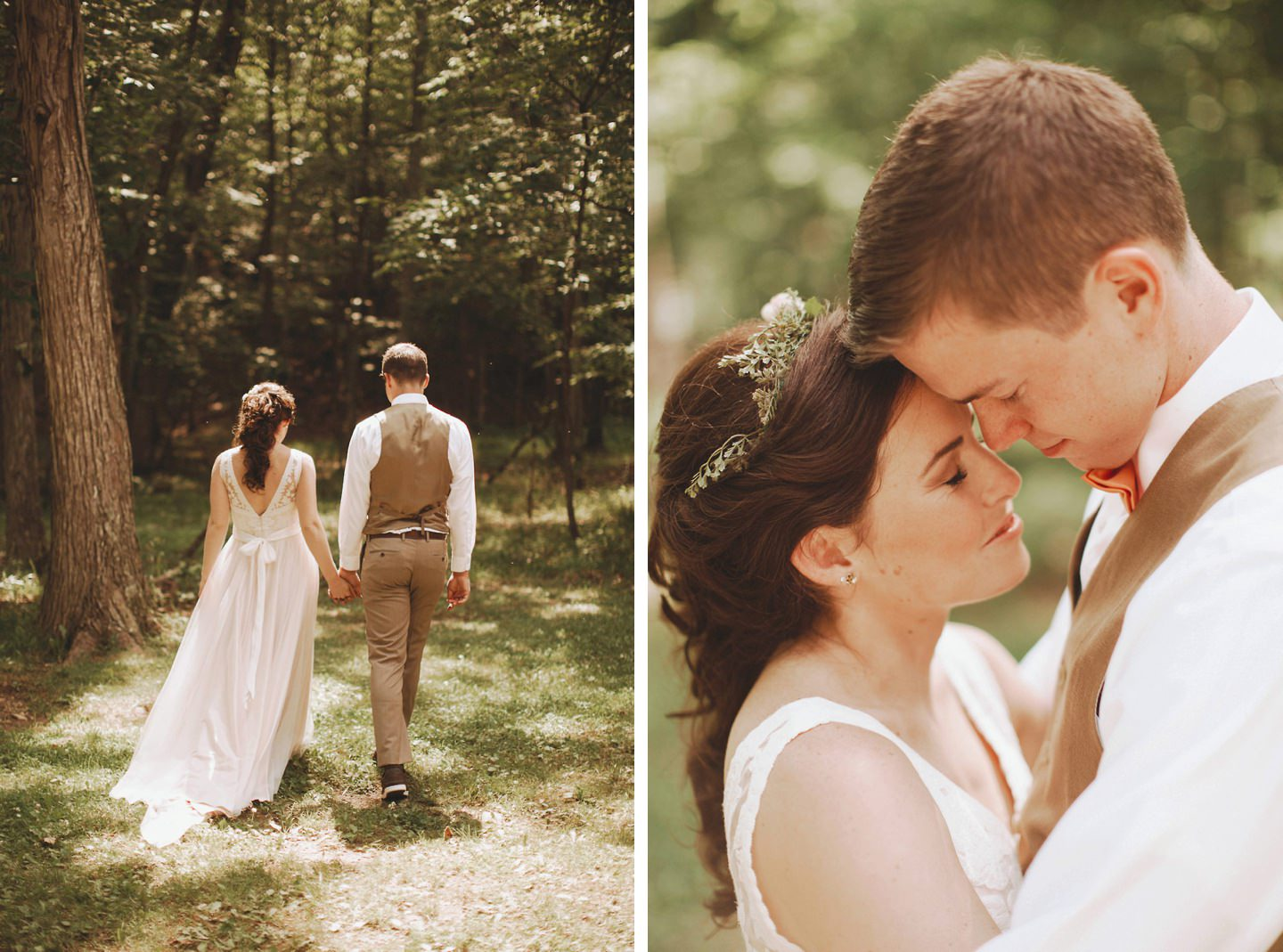 a cute forest wedding in wv