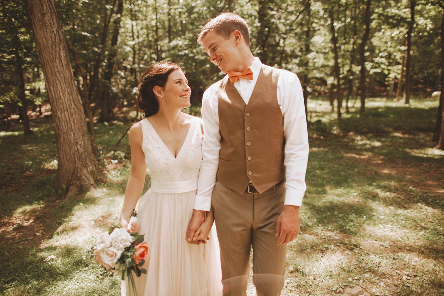 a west virginia forest wedding