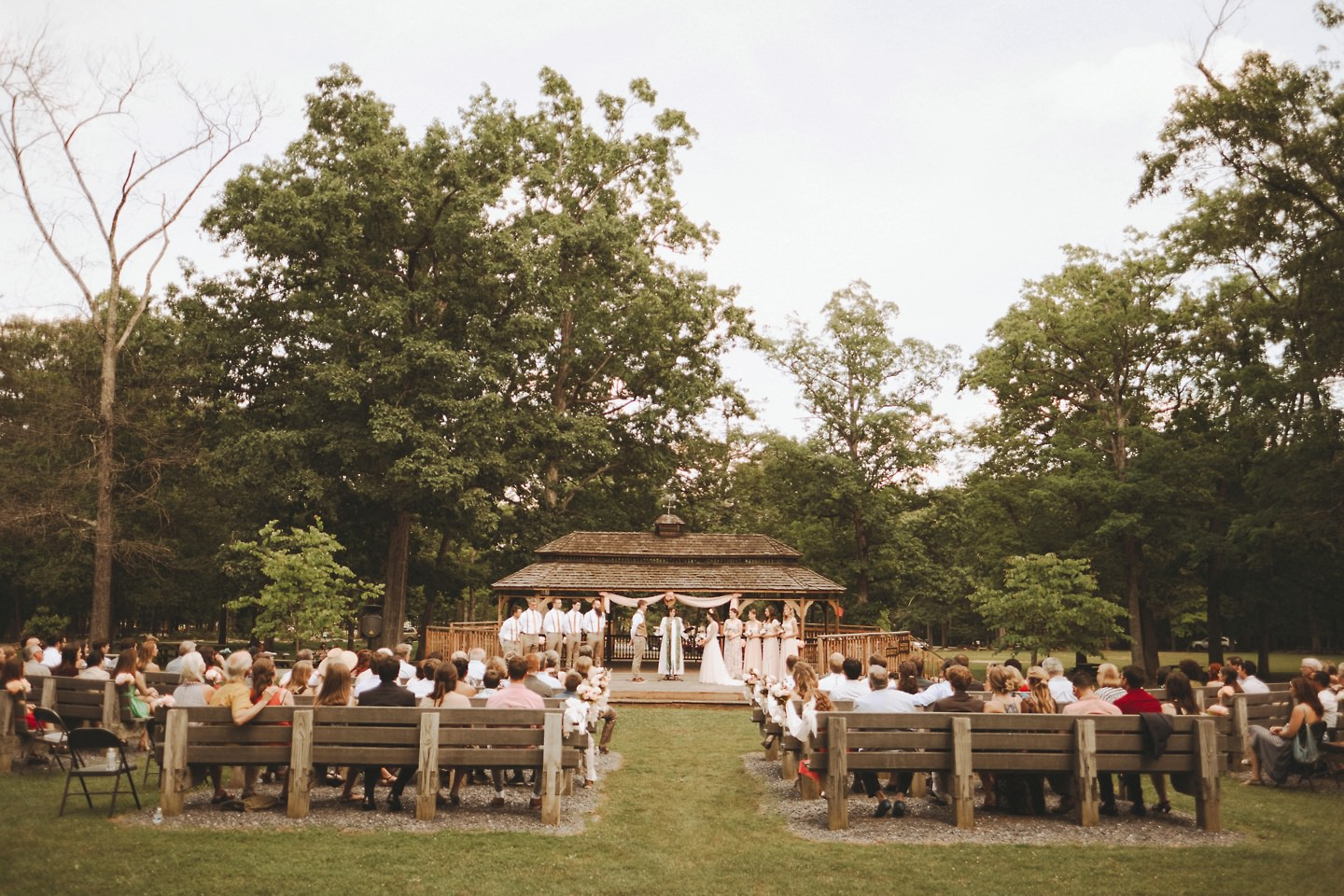 wedding at gazebo in Cacapon Resort State Park