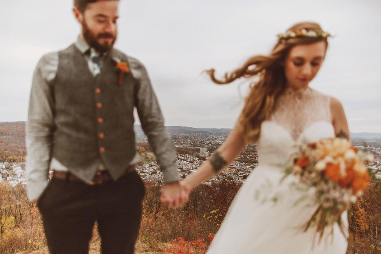 PA overlook for wedding portraits