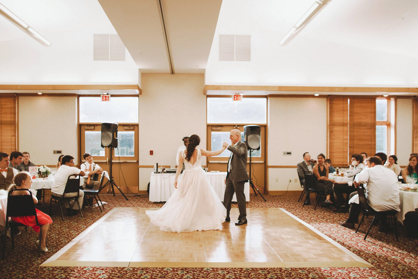 first dance in a conference room