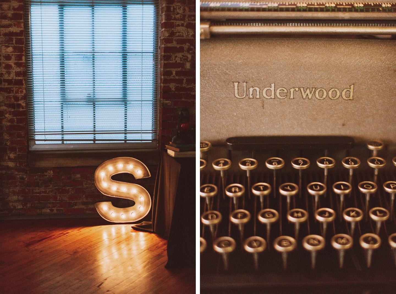 typewriter wedding decorations