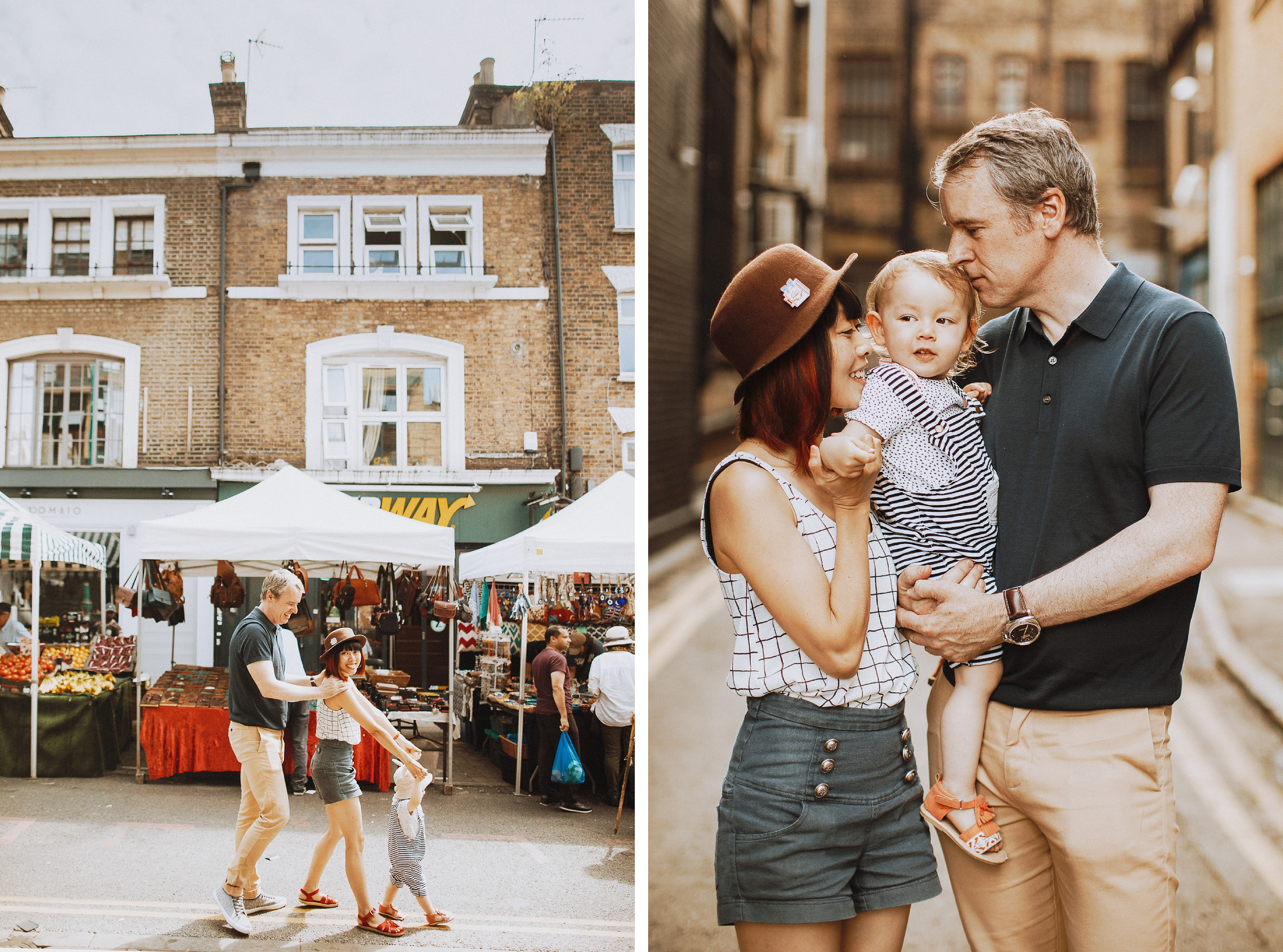 cute family photos in shoreditch UK