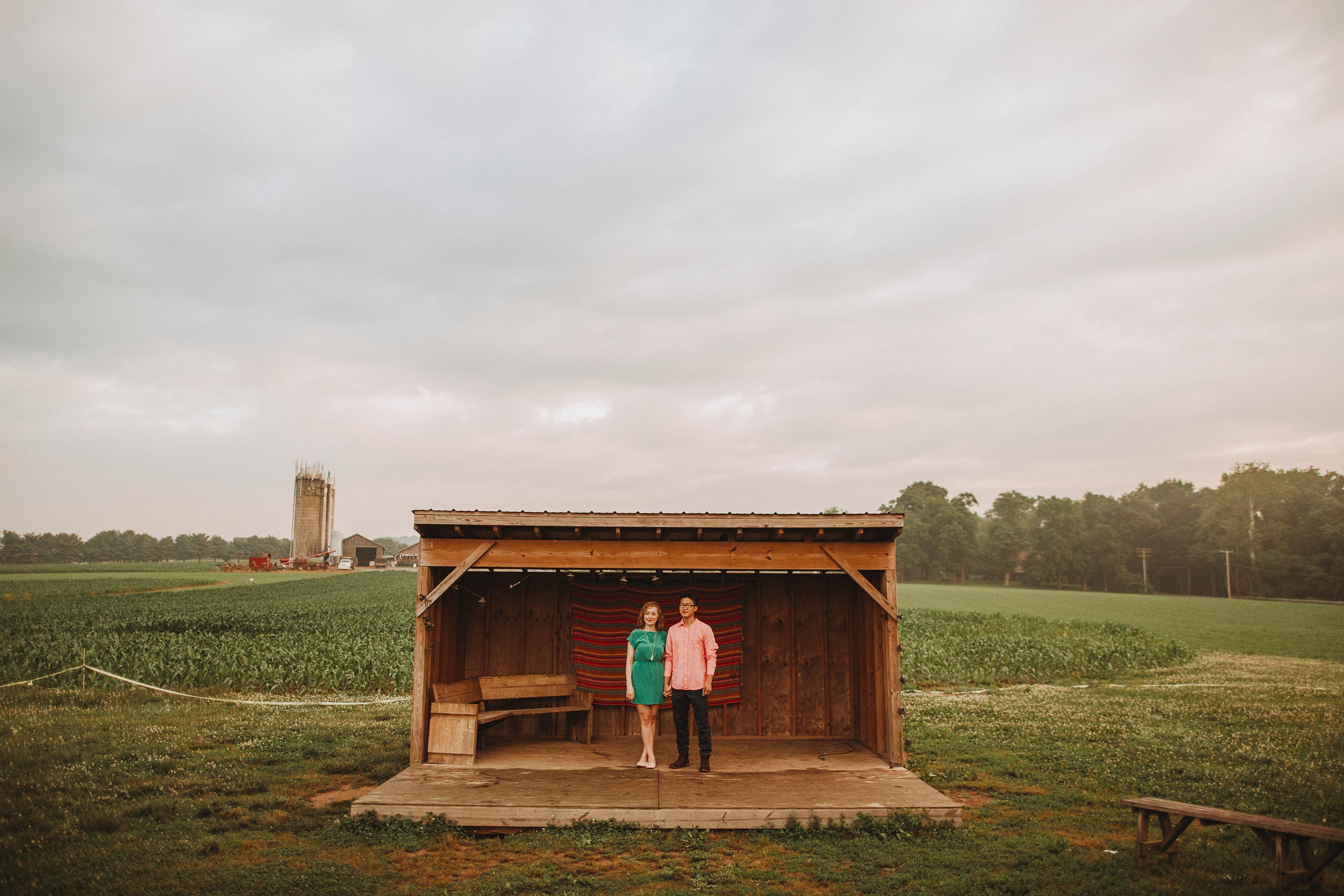 engagement pictures on overcast day