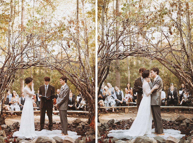 camp wedding ceremony maryland
