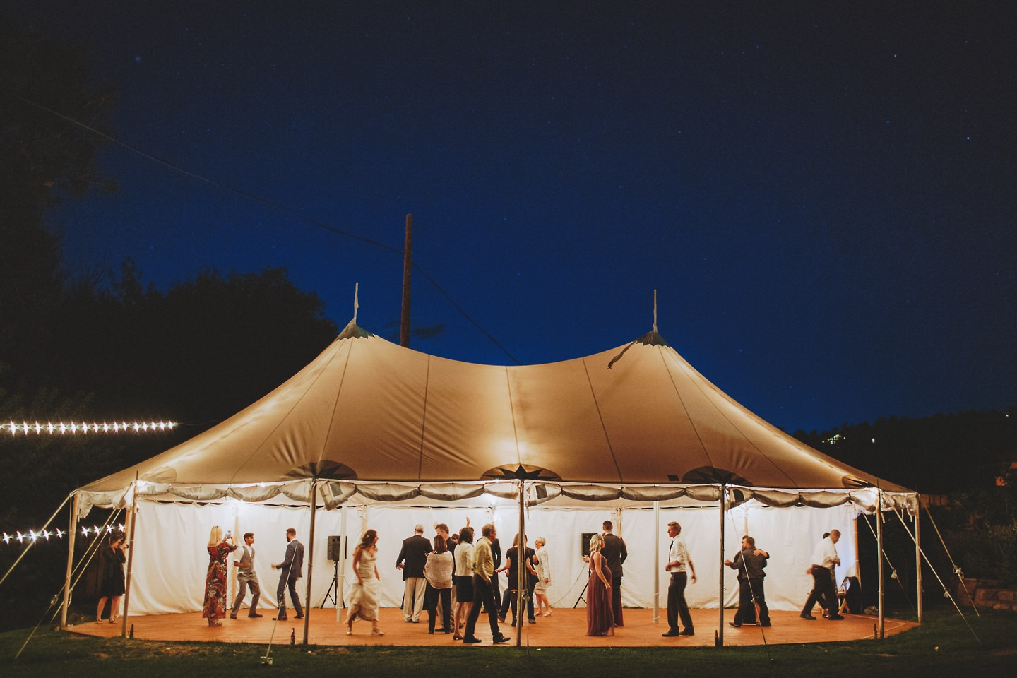 wedding tent Lyons Farmette