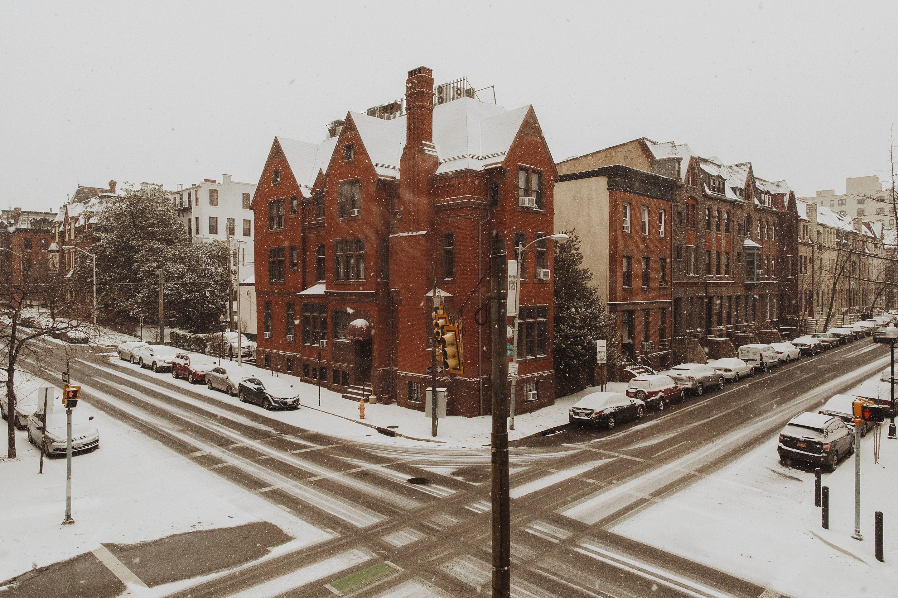 snowy wedding in baltimore md